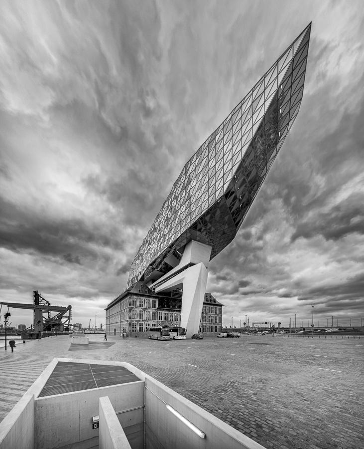 Architectuurfotografie Havenhuis Antwerpen